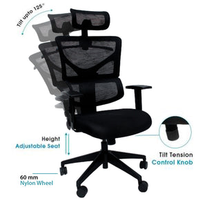 Combo-3A (WFH Table + Chair+Lamp) - woodbuzz.in