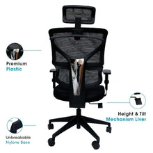 Load image into Gallery viewer, Ergonomic Chair- Alexa (High Back) - woodbuzz.in