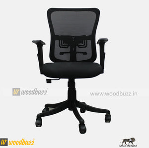 Ergonomic Chair- HS (Medium Back) - woodbuzz.in
