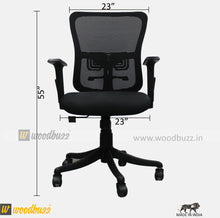 Load image into Gallery viewer, Ergonomic Chair- HS (Medium Back) - woodbuzz.in