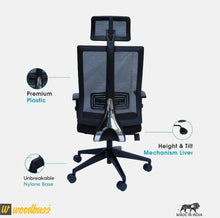Load image into Gallery viewer, Ergonomic Chair- Bliss (High Back) - woodbuzz.in