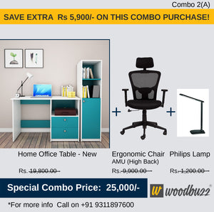 Combo-2A New (WFH Table + Chair+Lamp)