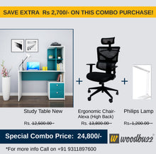 Load image into Gallery viewer, Combo-3A (WFH Table + Chair+Lamp) - woodbuzz.in