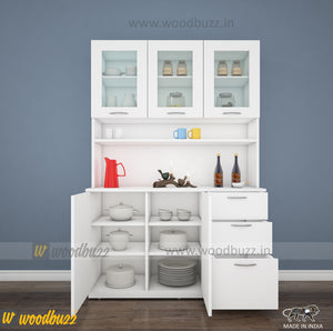 Modish Crockery Unit - 3Door - White