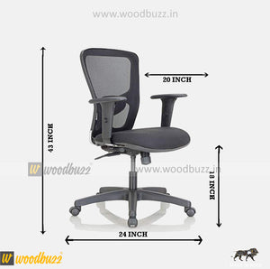 Combo-07  (WFH Table + Chair) - woodbuzz.in