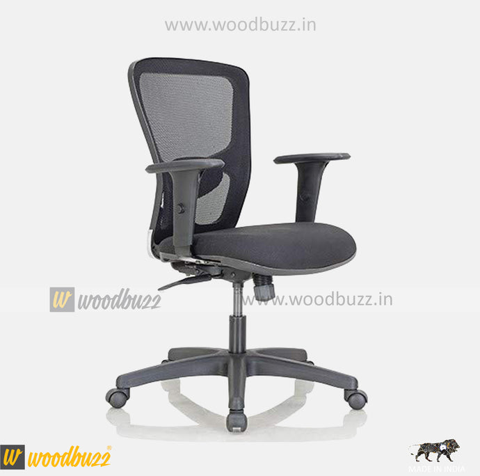 Ergonomic Chair- AMU (Medium Back) - woodbuzz.in