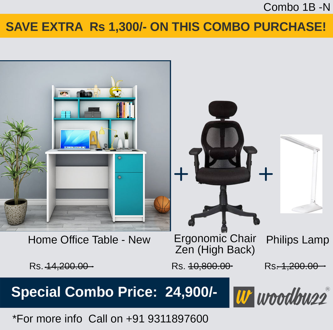 Combo-1B-N (WFH Table + Chair+Lamp)