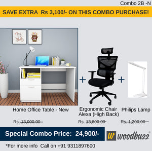 Combo-2B-N (WFH Table + Chair+Lamp)