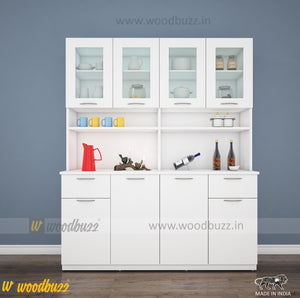 Modish Crockery Unit - 4Door - White