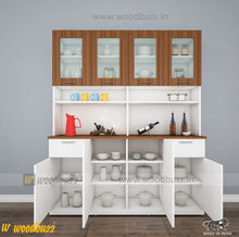 Load image into Gallery viewer, Modish Crockery Unit - 4Door - White+Walnut