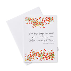 Friendship Card Set with Quotes by Saints
