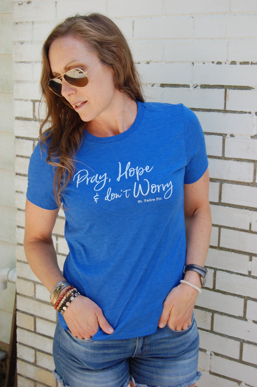 Pray, Hope and Don't Worry. St. Padre Pio Tee