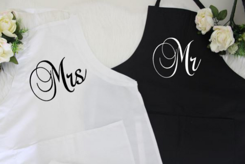 WEDDING GIFT IDEAS | Mr and Mrs Couple's Gift Box | Gifts for Couples - Apron Set