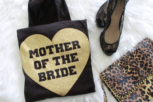 Heart Mother of the Bride Hoodie - Flat Lay