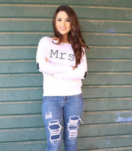 Mrs off the Shoulder Shirt with Heart Sleeves