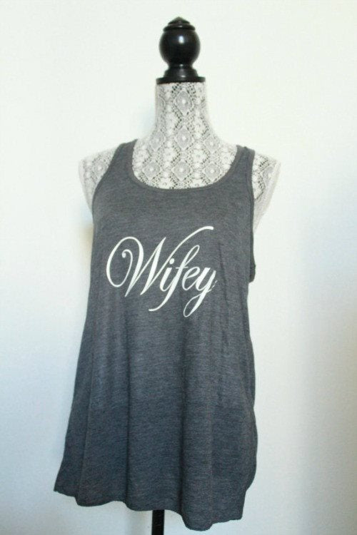 Wifey workout tank top