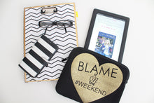 "Blame it on the Weekend 10"" Tablet Case - Media Flat Lay"