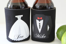 Bride & Groom Drink Koozies - Close Up