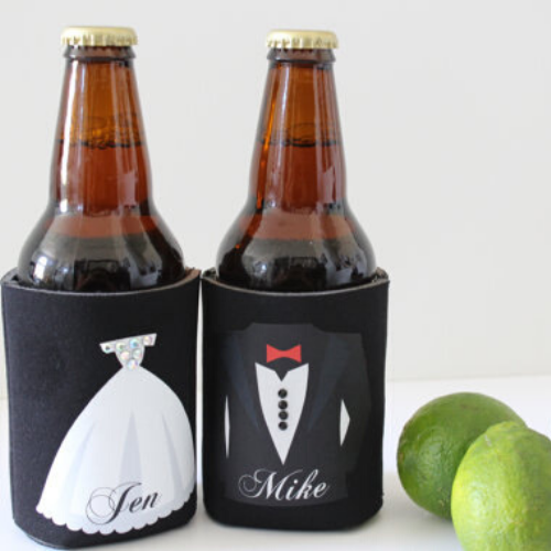 Bride & Groom Drink Koozie Set