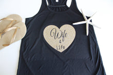 Wife for Life Tank With Gold Brown Heart