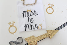 Miss to Mrs T-shirt Flat Lay