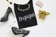 Bella Engaged off the shoulder shirt - Flat Lay