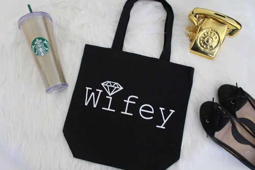 Diamond Wifey Tote Bag