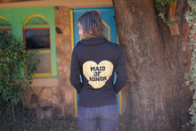 Heart Maid of Honor Hoodie - Single Black Backside