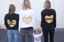 Heart Maid of Honor Hoodie - Group Backside