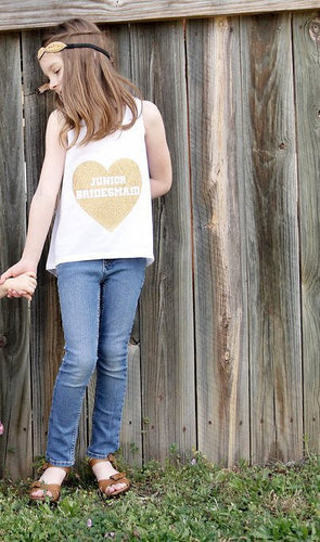 Heart Junior Bridesmaid Tank top