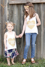 Heart Flower girl tank top
