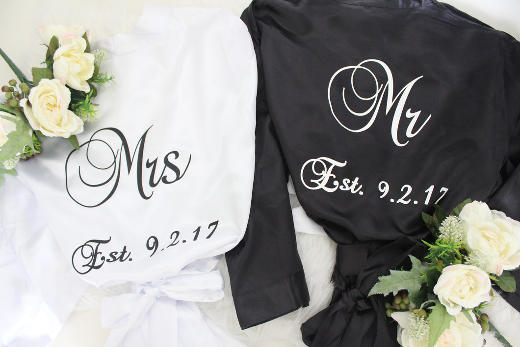 Mr and Mrs Robe Set