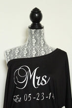 Mr and Mrs Shirts with Wedding Date - Mrs