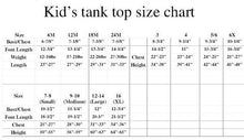 Black Flower Girl Tank Top with Rhinestones - Sizing Chart