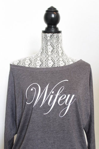 Wifey off the shoulder shirt - Arenlace Bridal Boutique