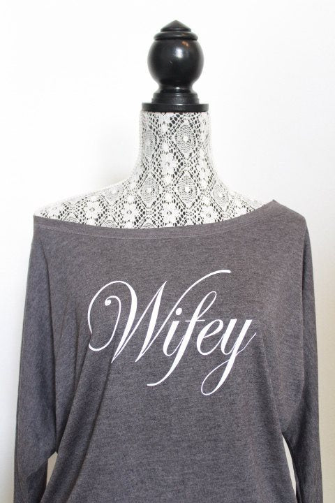 Wifey Shirt, Wife Shirt, Just Married shirt, Bride Shirt, Mrs Shirt, Plus size Wife Shirt, Bridal Sweatshirt, Mrs Sweatshirt, Wife Sweater - Arenlace Bridal Boutique