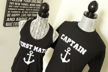 Mr and Mrs Nautical Shirts Displayed