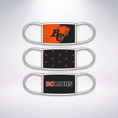 BC Lions 3 Pack Face Mask