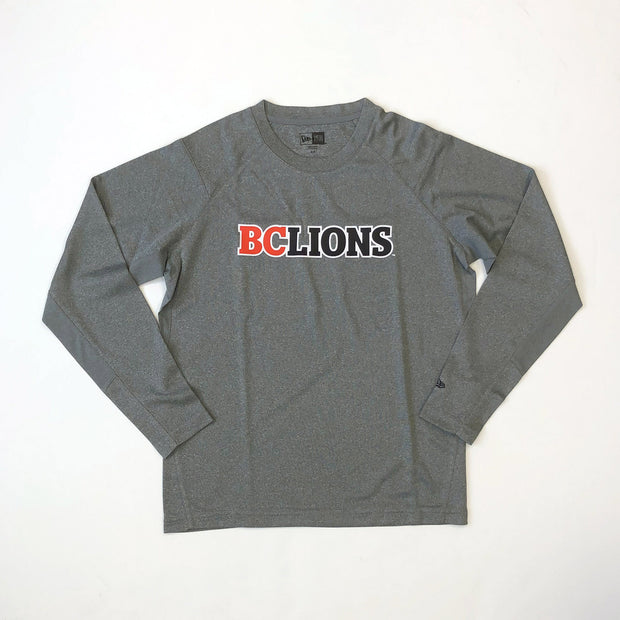 NE L/S Performance Tee- Grey