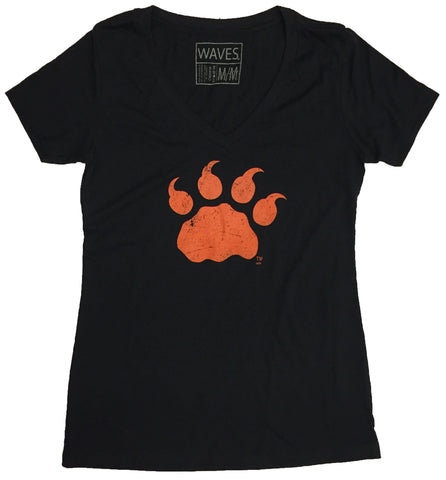 W Retro Paw V-Neck Tee