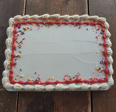 Quarter Sheet Birthday Sprinkles Cake