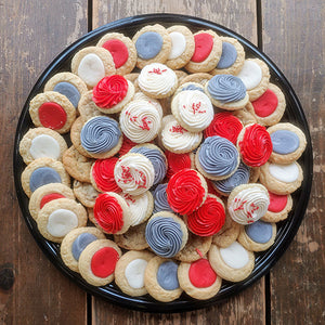 Scarlet and Gray Classic Cookie Tray