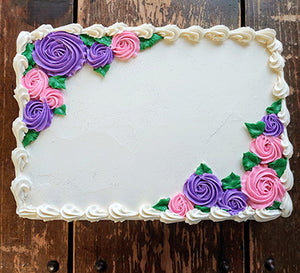 Quarter Sheet Pretty Princess Flower Garden Cake