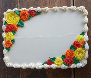 Quarter Sheet Sunshine Flower Garden Cake
