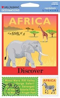 Africa (Cardstock) Stickers by Mrs. Grossman's
