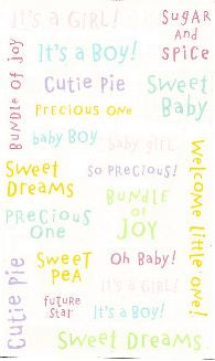 Baby Captions Multi Stickers by Mrs. Grossman's