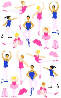 Ballet Stickers by Sandylion Sticker Designs