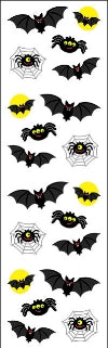 Bats and Spiders Stickers by Mrs. Grossman's