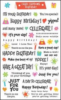 Birthday Card Captions Stickers by Mrs. Grossman's
