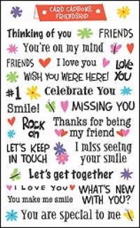 Friendship Card Captions Stickers by Mrs. Grossman's